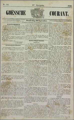 Goessche Courant 1861-09-26
