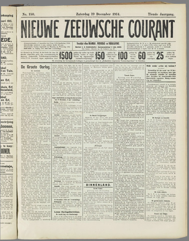 Nieuwe Zeeuwsche Courant 1914-12-19