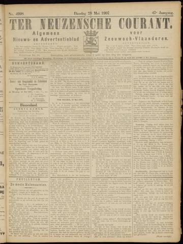 Ter Neuzensche Courant. Algemeen Nieuws- en Advertentieblad voor Zeeuwsch-Vlaanderen / Neuzensche Courant ... (idem) / (Algemeen) nieuws en advertentieblad voor Zeeuwsch-Vlaanderen 1907-05-28