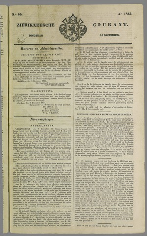 Zierikzeesche Courant 1844-12-10