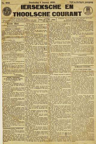 Ierseksche en Thoolsche Courant 1920