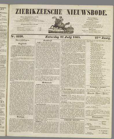 Zierikzeesche Nieuwsbode 1865-07-22