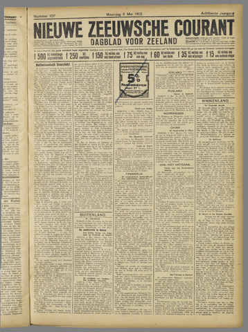 Nieuwe Zeeuwsche Courant 1922-05-08