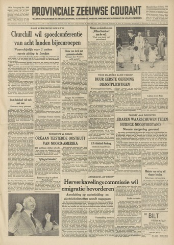 Provinciale Zeeuwse Courant 1954-09-02