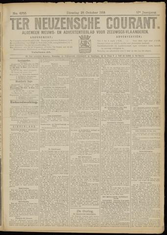 Ter Neuzensche Courant. Algemeen Nieuws- en Advertentieblad voor Zeeuwsch-Vlaanderen / Neuzensche Courant ... (idem) / (Algemeen) nieuws en advertentieblad voor Zeeuwsch-Vlaanderen 1918-10-29