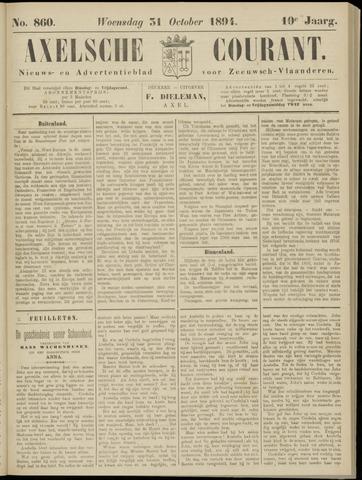 Axelsche Courant 1894-10-31