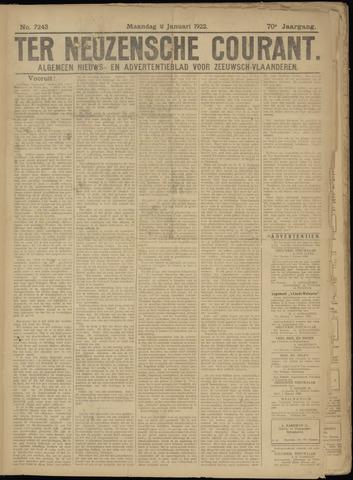 Ter Neuzensche Courant. Algemeen Nieuws- en Advertentieblad voor Zeeuwsch-Vlaanderen / Neuzensche Courant ... (idem) / (Algemeen) nieuws en advertentieblad voor Zeeuwsch-Vlaanderen 1922