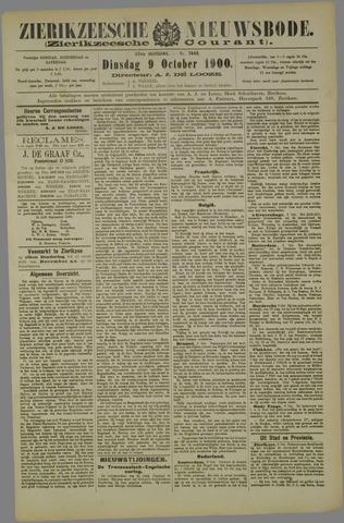 Zierikzeesche Nieuwsbode 1900-10-09
