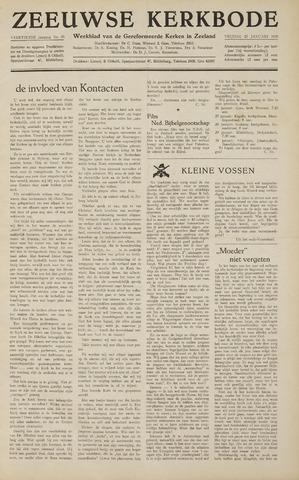 Zeeuwsche kerkbode, weekblad gewijd aan de belangen der gereformeerde kerken/ Zeeuwsch kerkblad 1959-01-23