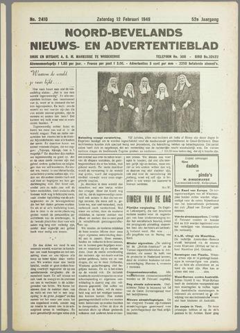 Noord-Bevelands Nieuws- en advertentieblad 1949-02-12