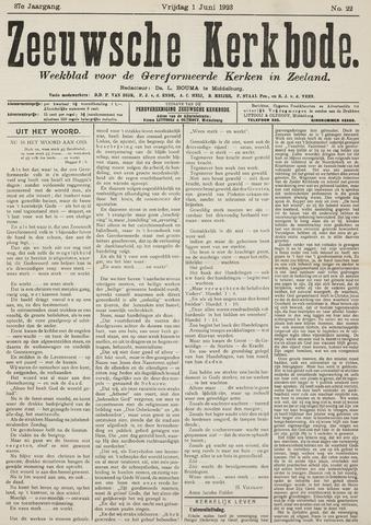 Zeeuwsche kerkbode, weekblad gewijd aan de belangen der gereformeerde kerken/ Zeeuwsch kerkblad 1923-06-01