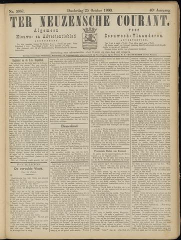 Ter Neuzensche Courant. Algemeen Nieuws- en Advertentieblad voor Zeeuwsch-Vlaanderen / Neuzensche Courant ... (idem) / (Algemeen) nieuws en advertentieblad voor Zeeuwsch-Vlaanderen 1900-10-25