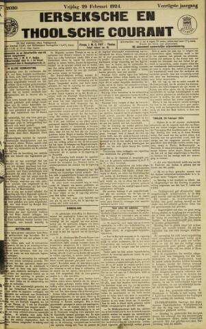 Ierseksche en Thoolsche Courant 1924-02-29