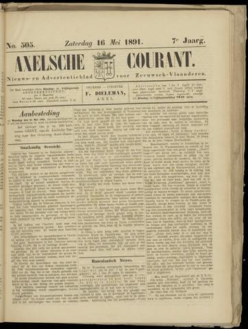 Axelsche Courant 1891-05-16
