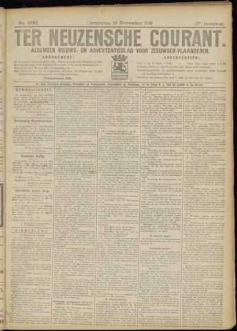 Ter Neuzensche Courant. Algemeen Nieuws- en Advertentieblad voor Zeeuwsch-Vlaanderen / Neuzensche Courant ... (idem) / (Algemeen) nieuws en advertentieblad voor Zeeuwsch-Vlaanderen 1918-11-14