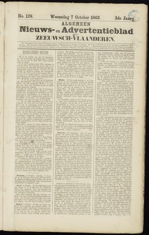 Ter Neuzensche Courant. Algemeen Nieuws- en Advertentieblad voor Zeeuwsch-Vlaanderen / Neuzensche Courant ... (idem) / (Algemeen) nieuws en advertentieblad voor Zeeuwsch-Vlaanderen 1863-10-07
