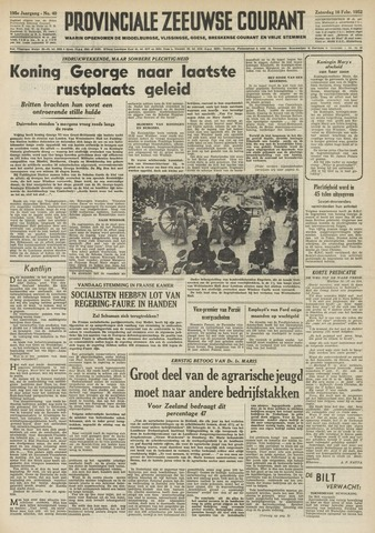Provinciale Zeeuwse Courant 1952-02-16