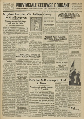 Provinciale Zeeuwse Courant 1951-01-04
