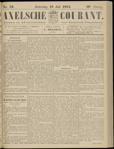 Axelsche Courant 1913-07-19