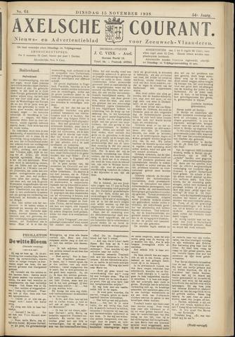 Axelsche Courant 1938-11-15