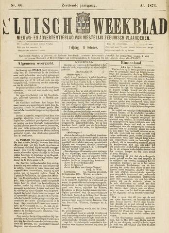 Sluisch Weekblad. Nieuws- en advertentieblad voor Westelijk Zeeuwsch-Vlaanderen 1875-10-08