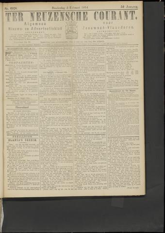 Ter Neuzensche Courant. Algemeen Nieuws- en Advertentieblad voor Zeeuwsch-Vlaanderen / Neuzensche Courant ... (idem) / (Algemeen) nieuws en advertentieblad voor Zeeuwsch-Vlaanderen 1914-02-05