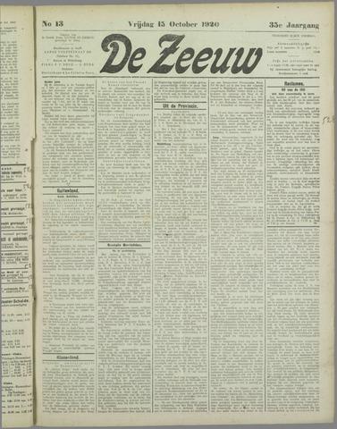De Zeeuw. Christelijk-historisch nieuwsblad voor Zeeland 1920-10-15