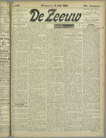 De Zeeuw. Christelijk-historisch nieuwsblad voor Zeeland 1921-07-06
