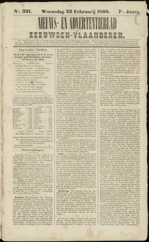 Ter Neuzensche Courant. Algemeen Nieuws- en Advertentieblad voor Zeeuwsch-Vlaanderen / Neuzensche Courant ... (idem) / (Algemeen) nieuws en advertentieblad voor Zeeuwsch-Vlaanderen 1860-02-22