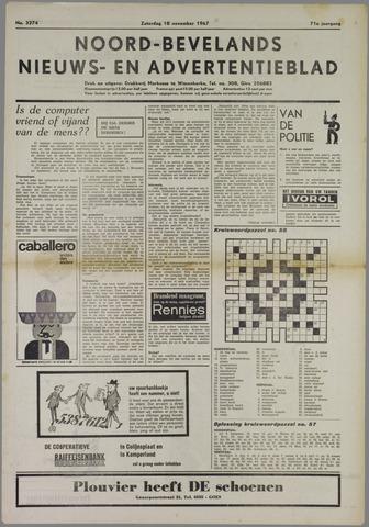 Noord-Bevelands Nieuws- en advertentieblad 1967-11-18
