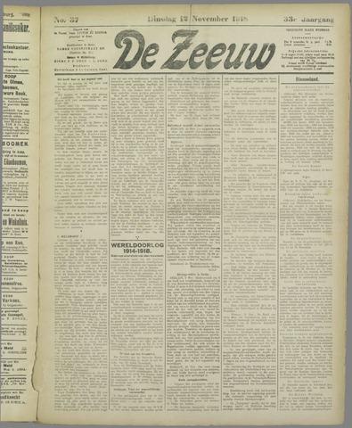 De Zeeuw. Christelijk-historisch nieuwsblad voor Zeeland 1918-11-12