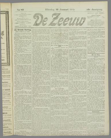 De Zeeuw. Christelijk-historisch nieuwsblad voor Zeeland 1917-01-16