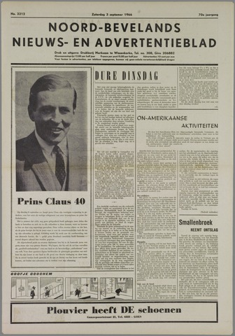 Noord-Bevelands Nieuws- en advertentieblad 1966-09-03