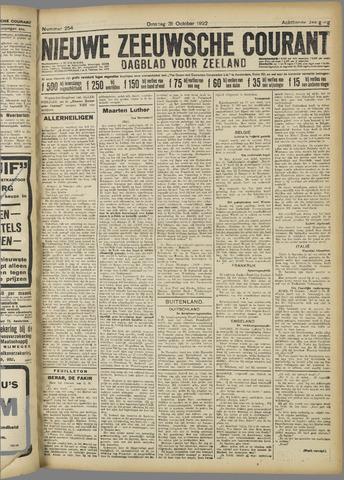 Nieuwe Zeeuwsche Courant 1922-10-31