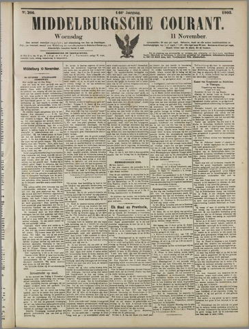 Middelburgsche Courant 1903-11-11