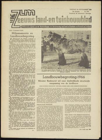 Zeeuwsch landbouwblad ... ZLM land- en tuinbouwblad 1965-09-24