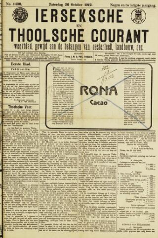 Ierseksche en Thoolsche Courant 1912-10-26
