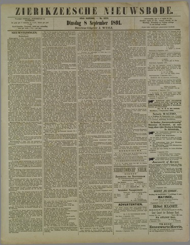 Zierikzeesche Nieuwsbode 1891-09-08