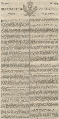 Middelburgsche Courant 1764-10-30