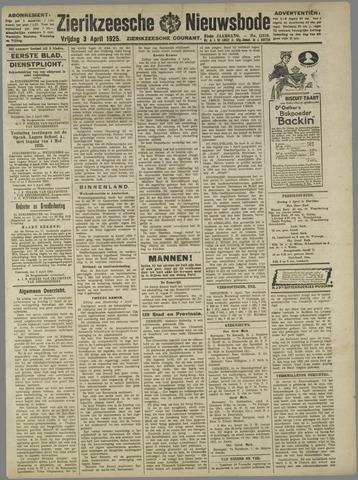 Zierikzeesche Nieuwsbode 1925-04-03