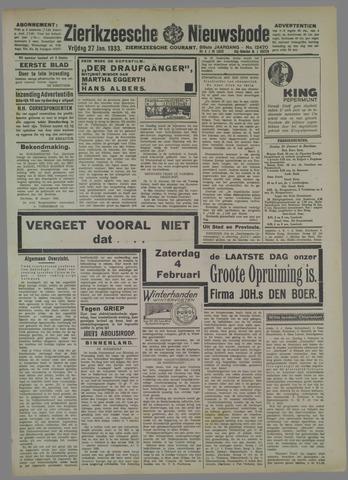 Zierikzeesche Nieuwsbode 1933-01-27