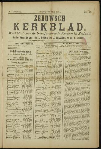 Zeeuwsche kerkbode, weekblad gewijd aan de belangen der gereformeerde kerken/ Zeeuwsch kerkblad 1904-05-20