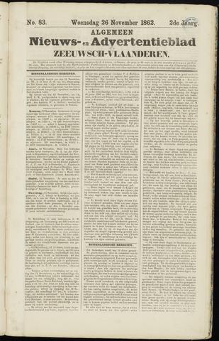 Ter Neuzensche Courant. Algemeen Nieuws- en Advertentieblad voor Zeeuwsch-Vlaanderen / Neuzensche Courant ... (idem) / (Algemeen) nieuws en advertentieblad voor Zeeuwsch-Vlaanderen 1862-11-26