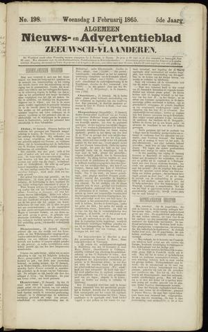 Ter Neuzensche Courant. Algemeen Nieuws- en Advertentieblad voor Zeeuwsch-Vlaanderen / Neuzensche Courant ... (idem) / (Algemeen) nieuws en advertentieblad voor Zeeuwsch-Vlaanderen 1865-02-01