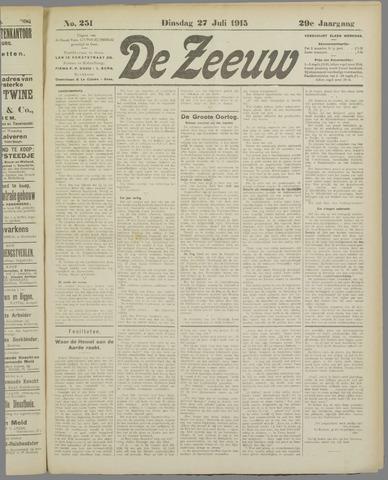 De Zeeuw. Christelijk-historisch nieuwsblad voor Zeeland 1915-07-27