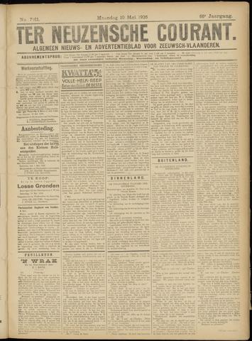 Ter Neuzensche Courant. Algemeen Nieuws- en Advertentieblad voor Zeeuwsch-Vlaanderen / Neuzensche Courant ... (idem) / (Algemeen) nieuws en advertentieblad voor Zeeuwsch-Vlaanderen 1926-05-10
