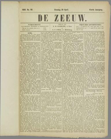 De Zeeuw. Christelijk-historisch nieuwsblad voor Zeeland 1890-04-29