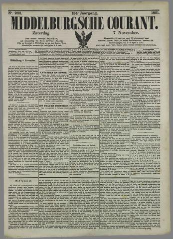 Middelburgsche Courant 1891-11-07