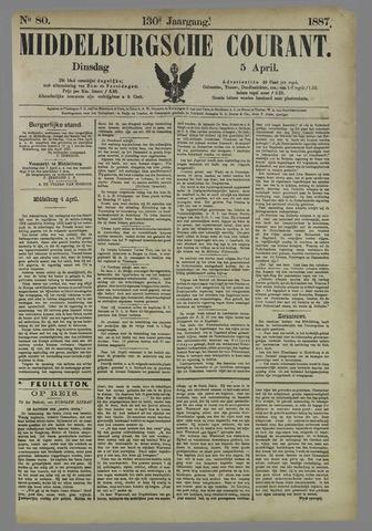 Middelburgsche Courant 1887-04-05