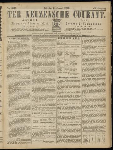Ter Neuzensche Courant. Algemeen Nieuws- en Advertentieblad voor Zeeuwsch-Vlaanderen / Neuzensche Courant ... (idem) / (Algemeen) nieuws en advertentieblad voor Zeeuwsch-Vlaanderen 1903-01-24